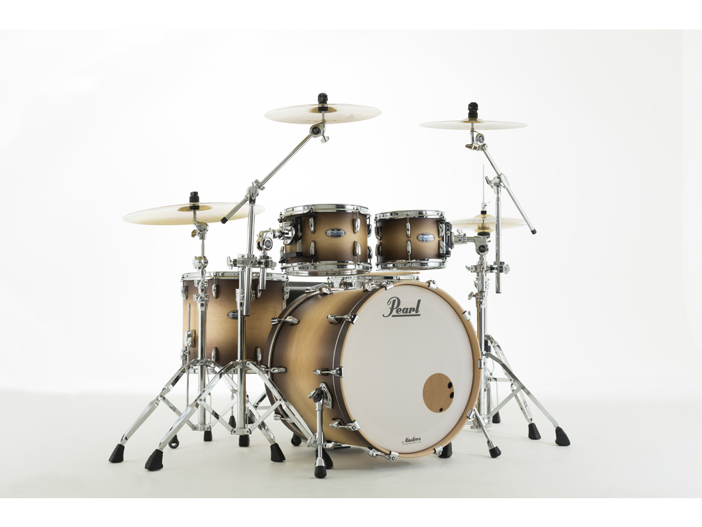 "Shell Set Pearl Masters Maple Complete MCT924XEFP/C351 Satin Natural Burst, 22"", 10"", 12"", 14"""