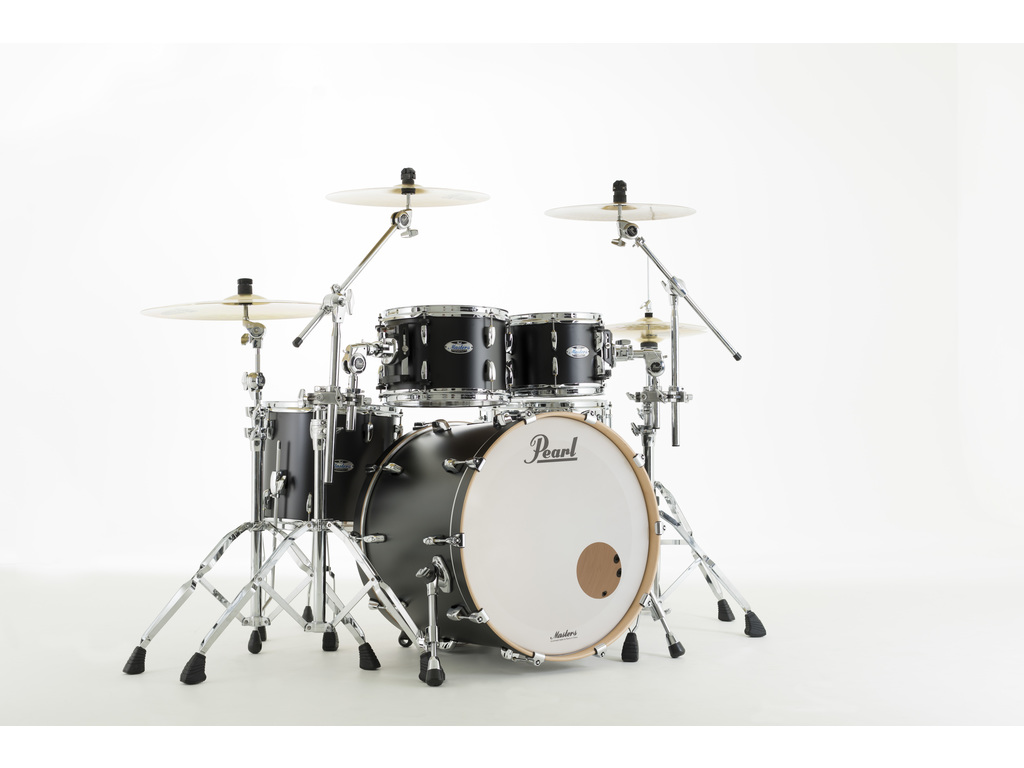"Shell Set Pearl Masters Maple Complete MCT924XEFP/C339 Matte Caviar Black, 22"", 10"", 12"", 14"""