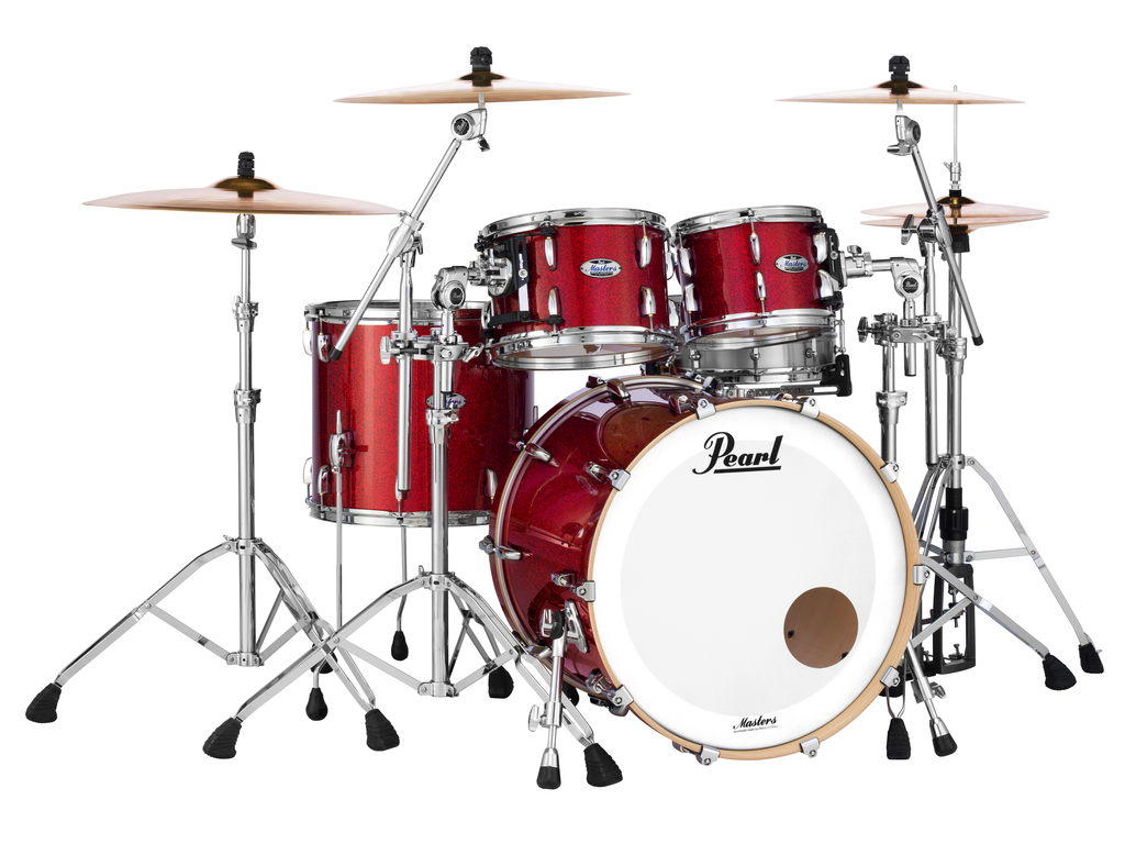 "Shell Set Pearl Masters Maple Complete MCT924XEFP/C319 Inferno Red Sparkle, 22"", 10"", 12"", 14"""