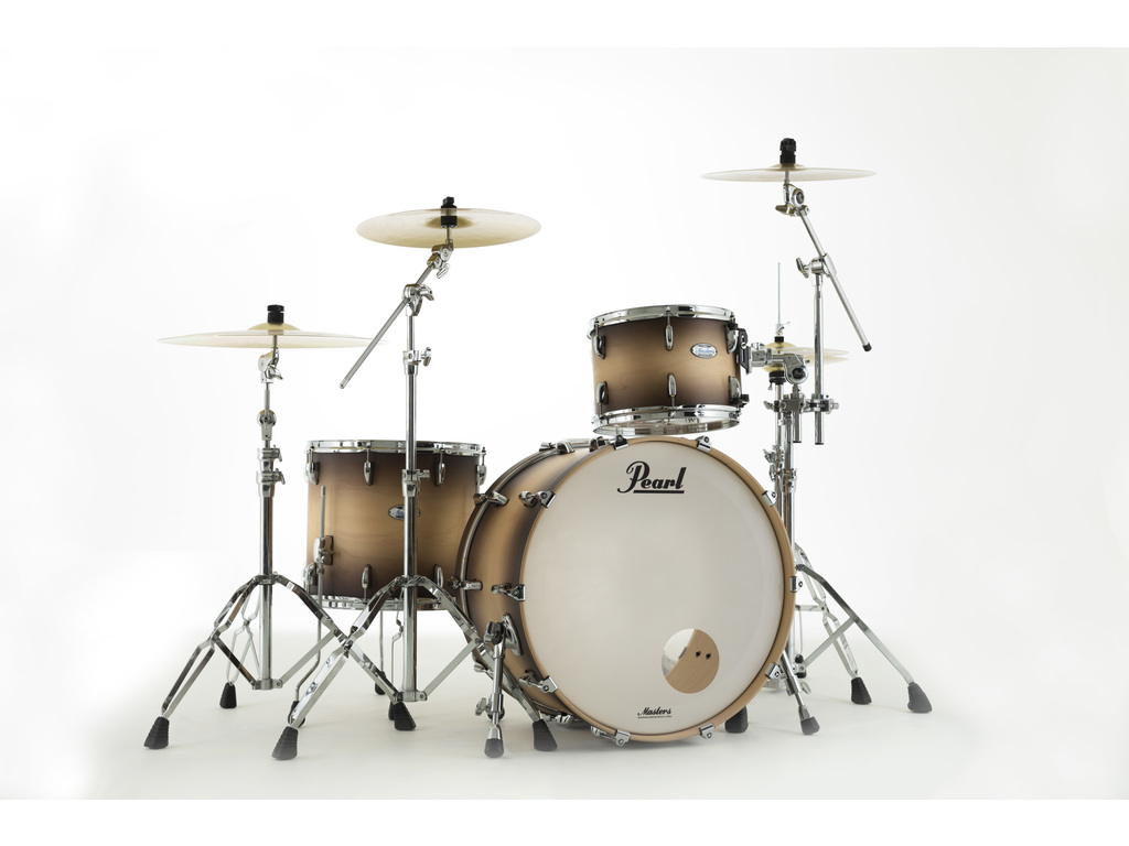 "Shell Set Pearl Masters Maple Complete MCT943XEP/C351 Satin Natural Burst, 24"", 13"", 16"""