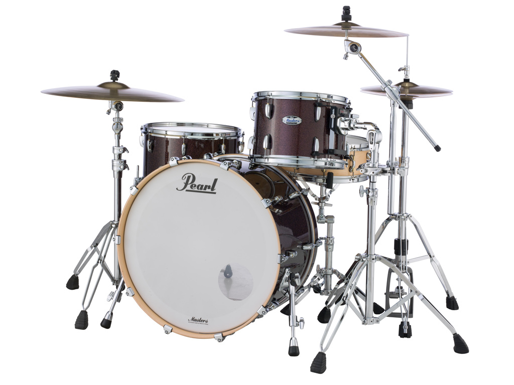 "Shell Set Pearl Masters Maple Complete MCT943XEP/C329 Burnished Bronze Sparkle, 24"", 13"", 16"""