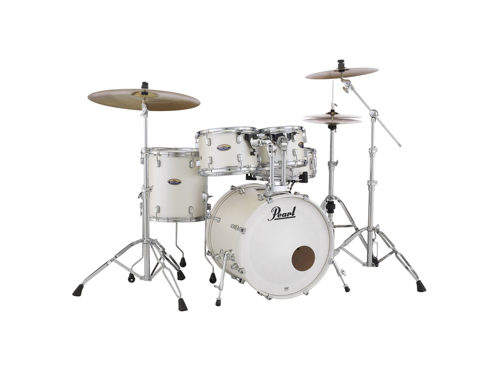 "Shell Set Pearl Masters Maple Reserve MRV924XEFP/C353 Matte White, 22"", 10"", 12"", 14"""