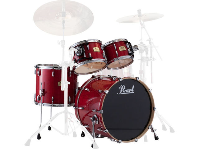 "Shell Set Pearl Session Studio Classic SSC924XUP/C110 Sequoia Red, 22"", 10"", 12"", 16"", exclusief hardware"