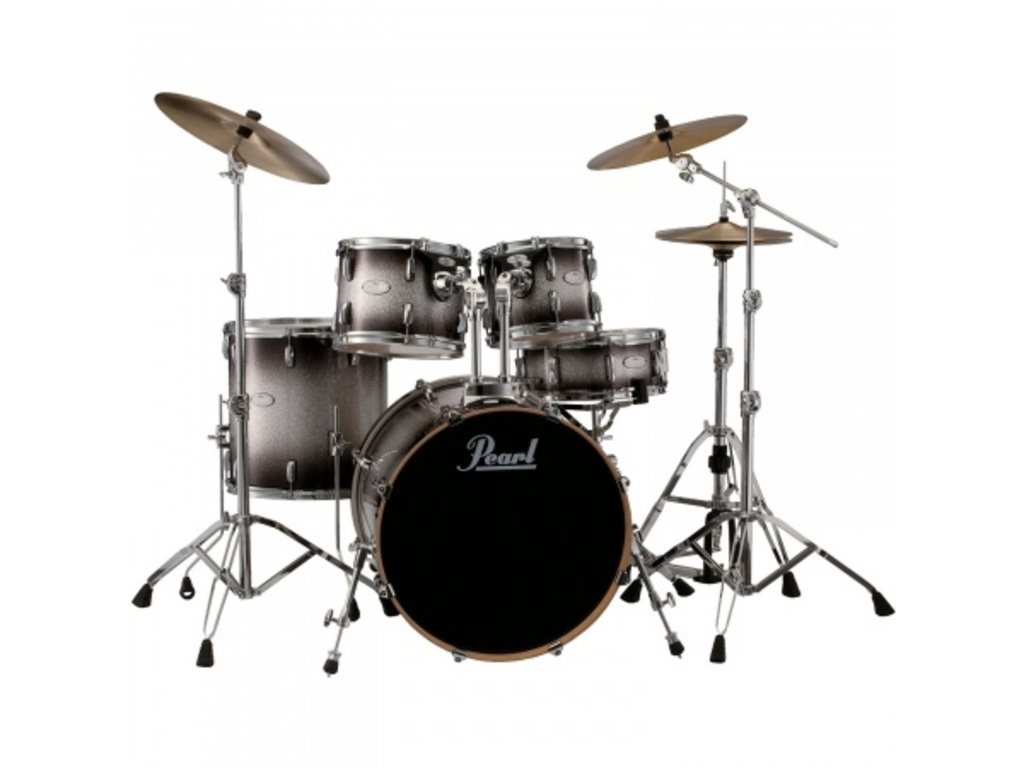 Shell set Pearl Vision VML905/C368, 5-delige set 20-10-12-14-14 incl hardware, Black Silver Burst