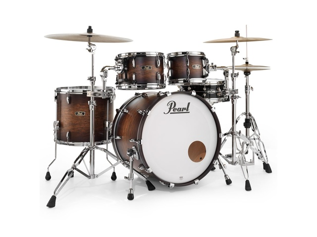 "Shell Set Pearl Wood Fiberglass FW924XSP/C327 Satin Cocoa Burst, 22"", 10"", 12"", 16"""