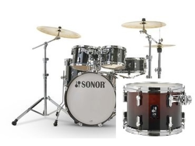 "Shell Set Sonor AQ2 Serie Studio Set BRF Brown Fade, 20"", 10"", 12"", 14"", 14"""