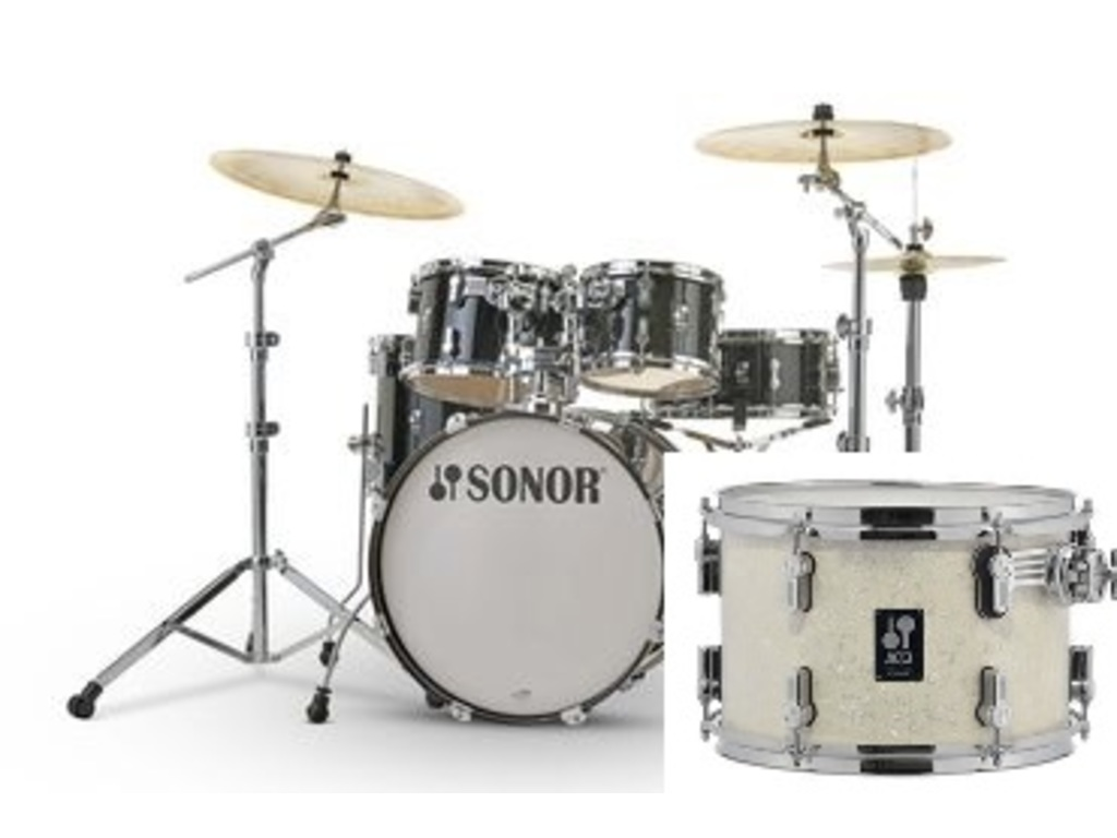 "Shell Set Sonor AQ2 Serie Stage Set WHP White Pearl, 22"", 10"", 12"", 16"", 14"""