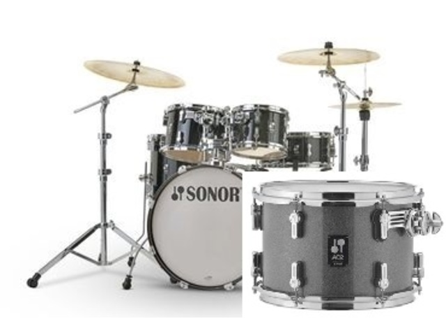 "Shell Set Sonor AQ2 Serie Stage Set TQZ Titanium Quartz, 22"", 10"", 12"", 16"", 14"""