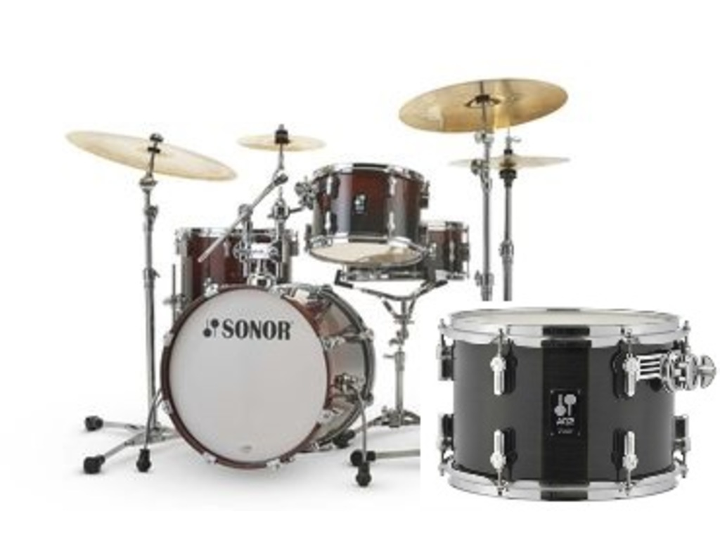 "Shell set Sonor AQ2 Serie Bop set TSB Transparent Stain Black, 18"", 12"", 14"", 14"""
