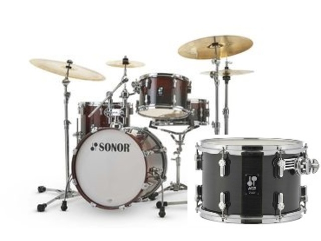 "Shell Set Sonor AQ2 Serie Bop Set TSB Transparant Stain Black, 18"", 12"", 14"", 14"""