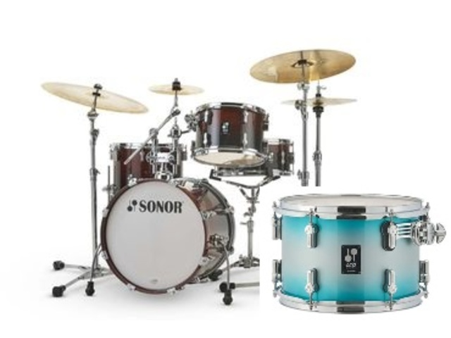 "Shell Set Sonor AQ2 Serie Bop Set ASB Aqua Silver Burst, 18"", 12"", 14"", 14"""
