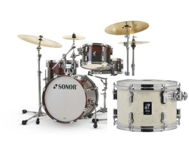 "Shell Set Sonor AQ2 Serie Bop Set WHP White Pearl, 18"", 12"", 14"", 14"""