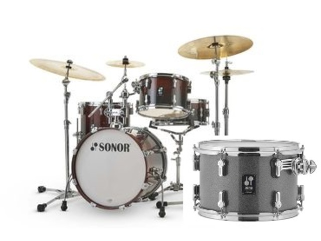 "Shell Set Sonor AQ2 Serie Bop Set TQZ Titanium Quartz, 18"", 12"", 14"", 14"""