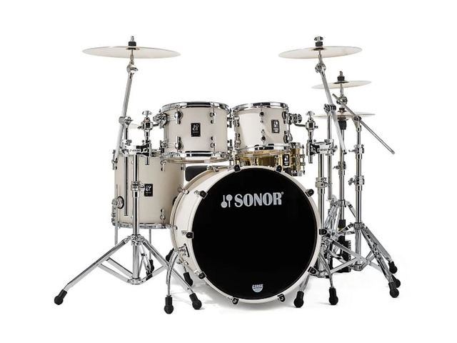 "Shell Set Sonor ProLite Serie PL 12 Stage 3 NM Creme White, 22"", 10"", 12"", 16"""