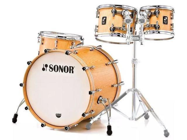 "Shell Set Sonor ProLite Serie PL 12 Stage 3 NM Natural, 22"", 10"", 12"", 16"""