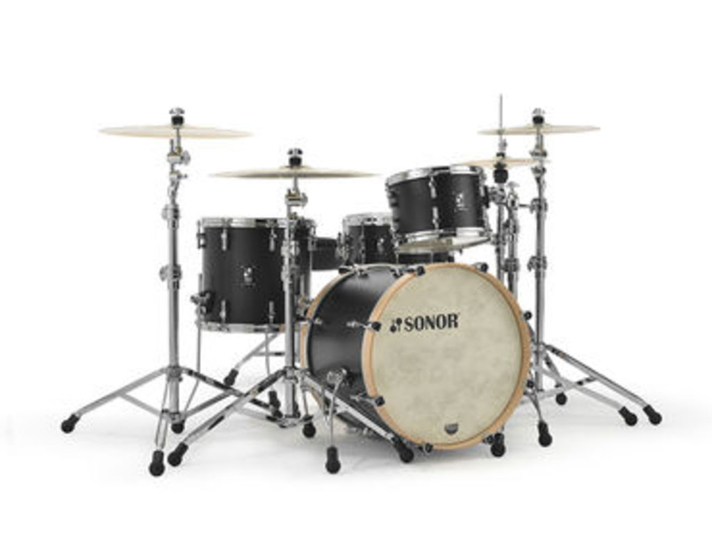 "Shell Set Sonor SQ1 Series SQ1 320 Set NM GTB GT Black, 20"", 12"", 14"""