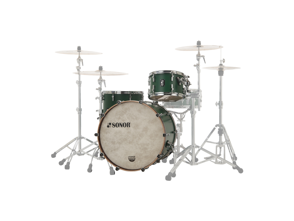 "Shell Set Sonor SQ1 Series SQ1 322 Set NM RGR Roadster Green, 22"", 12"", 16"""