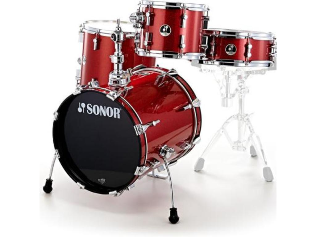 "Shell Set Sonor Special Edition Serie SSE 12 Safari 4pc Red Galaxy Sparkle, 16"", 10"", 14"", 14"""