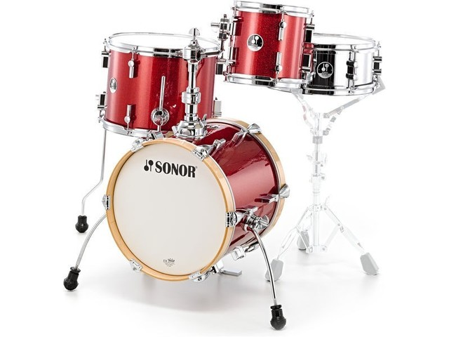 "Shell Set Sonor Special Edition Serie SSE 13 Martini 4pc Red Galaxy Sparkle, 14"", 8"", 13"", 12"""