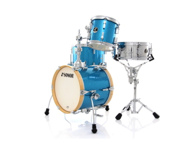 "Shell Set Sonor Special Edition Serie SSE 13 Martini 4pc Turquois Galaxy Sparkle, 14"", 8"", 13"", 12"""