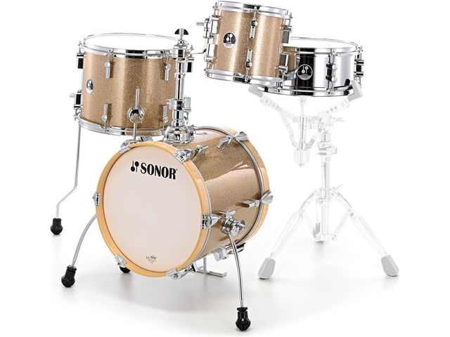 "Shell Set Sonor Special Edition Serie SSE 13 Martini 4pc Gold Galaxy Sparkle, 14"", 8"", 13"", 12"""