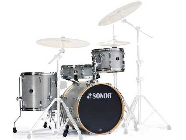 "Shell Set Sonor Special Edition Serie SSE 12 Bop 4pc Silver Galaxy Sparkle, 18"", 12"", 14"", 14"""