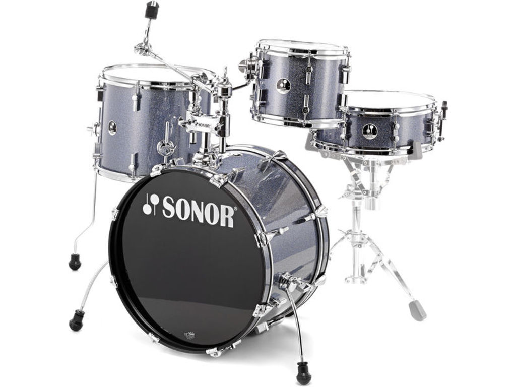 "Shell Set Sonor Special Edition Serie SSE 13 Player 4pc Black Galaxy Sparkle, 20"", 10"", 14"", 14"""