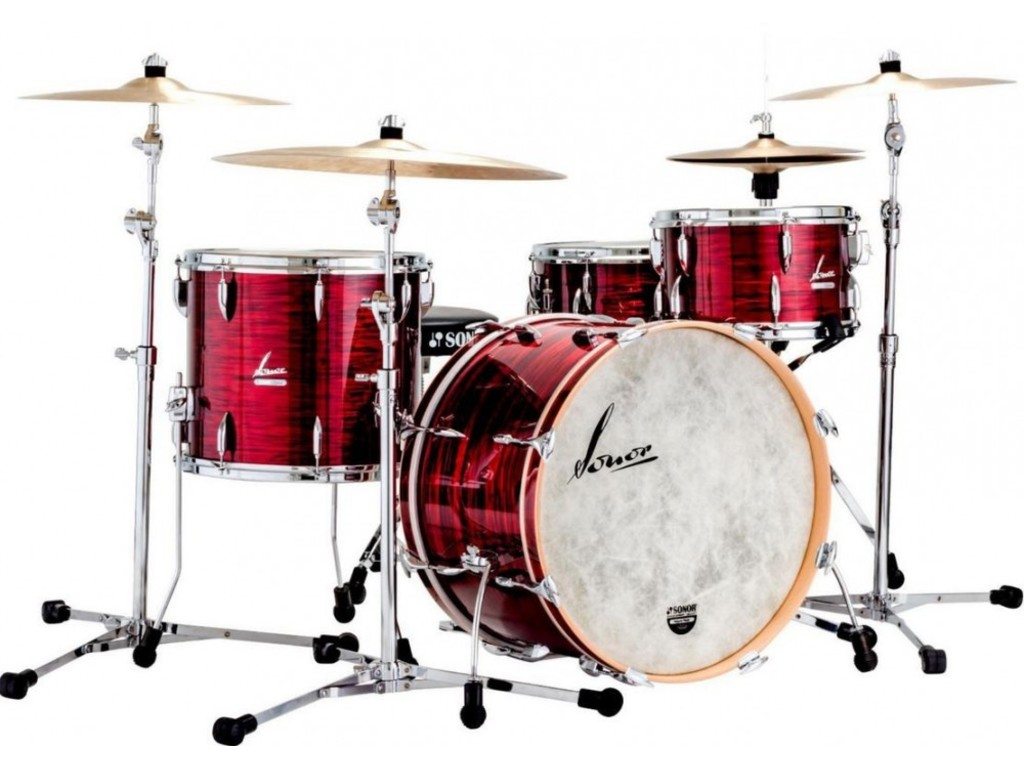 "Shell Set Sonor Vintage Serie VT 16 Three20 Shells NM Vintage Red Oyster, 20"", 12"", 14"""