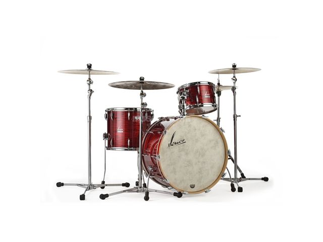 "Shell Set Sonor Vintage Serie VT 16 Three22 Shells WM Vintage Red Oyster, 22"", 13"", 16"""