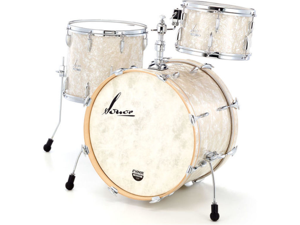 "Shell Set Sonor Vintage Serie VT 16 Three22 Shells WM Vintage Pearl, 22"", 13"", 16"""