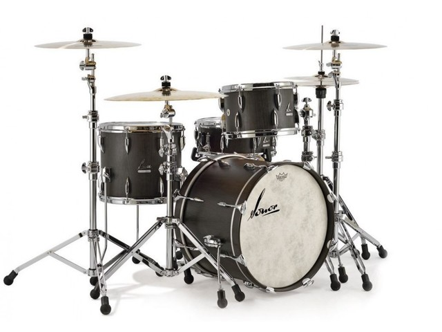 "Shell Set Sonor Vintage Serie VT 17 Three22 Shells NM Vintage Black Slate, 22"", 13"", 16"""