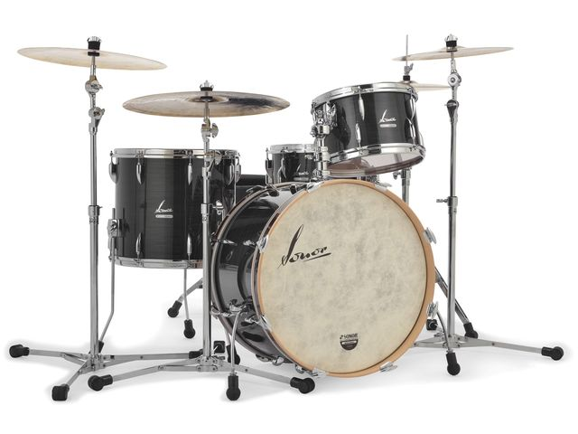 "Shell Set Sonor Vintage Serie VT 17 Three22 Shells WM Vintage Black Slate, 22"", 13"", 16"""