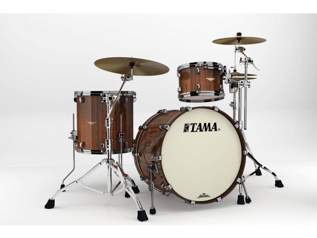 "Shell Set Tama Starclassic Bubinga BE32RZS-TMGF Midnight Tigerwood Fade, 22"", 12"", 16"", Chrome Hardware"