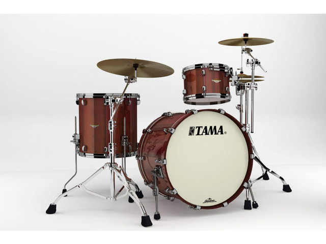 "Shell Set Tama Starclassic Bubinga BE32RZS-TCGF Crimson Tigerwood Fade, 22"", 12"", 16"", Chrome Hardware"