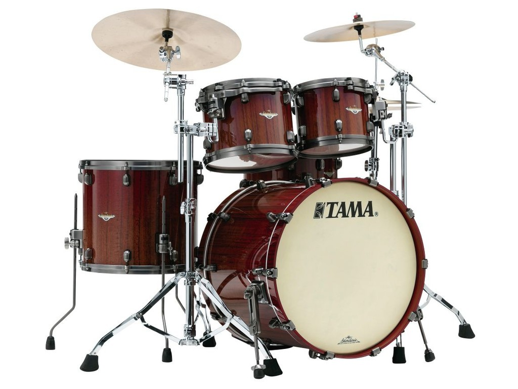 "Shell Set Tama Starclassic Bubinga BE42ZS-TCGF Crimson Tigerwood Fade, 22"", 10"", 12"", 16"", Chrome Hardware"
