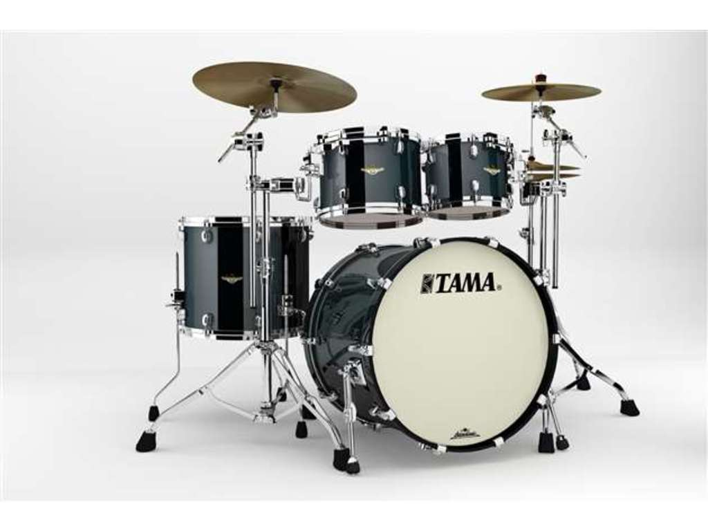 "Shell Set Tama Starclassic Bubinga BG42ZS-PBK Piano Black, 22"", 10"", 12"", 16"", Chrome Hardware"