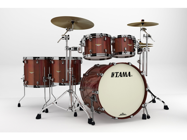 "Shell Set Tama Starclassic Bubinga BE52ZS-TCGF Crimson Tigerwood Fade, 22"", 10"", 12"", 14"", 16"", Chrome Hardware"