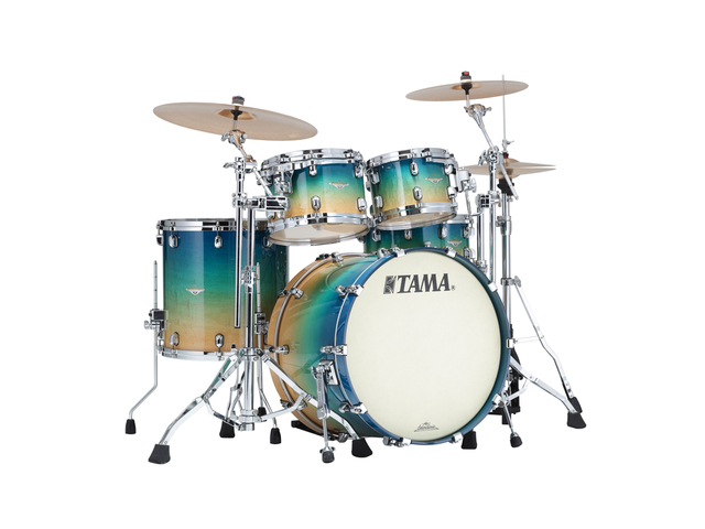 "Shell Set Tama Starclassic Maple ME42TZS-GFCB Figured Caribbean Blue Fade, 22"", 10"", 12"", 16"", Chrome Hardware"