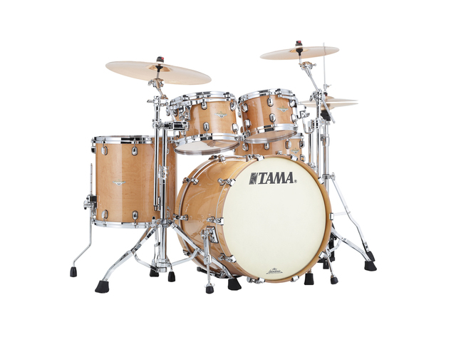 "Shell Set Tama Starclassic Maple ME42TZS-GFMG Figured Maple Gloss, 22"", 10"", 12"", 16"", Chrome Hardware"