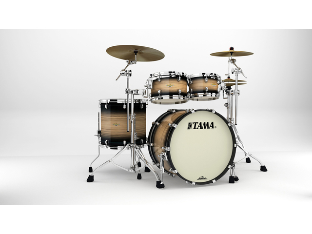 "Shell Set Tama Starclassic Maple ME42TZS-LNWB Natural Pacific Walnut Burst, 22"", 10"", 12"", 16"", Chrome Hardware"