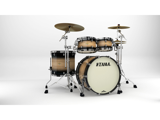 "Shell Set Tama Starclassic Maple ME42TZBS-LNWB Natural Pacific Walnut Burst, 22"", 10"", 12"", 16"", Zwart Nikkel Hardware"