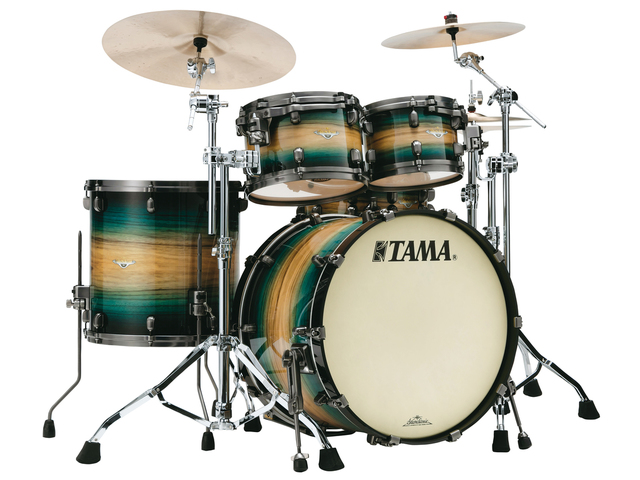 "Shell Set Tama Starclassic Maple ME42TZUS-LEWB Emerald Pacific Walnut Burst, 22"", 10"", 12"", 16"", Smoked Zwart Nikkel Hardware"