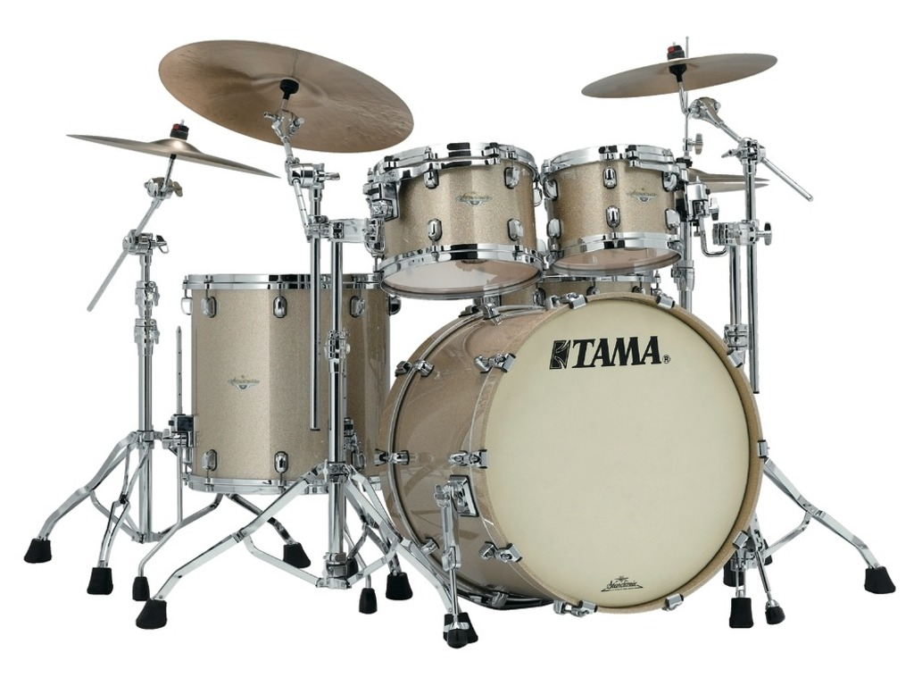 "Shell Set Tama Starclassic Maple MA42TZS-CHS Champagne Sparkle, 22"", 10"", 12"", 16"", Chrome Hardware"