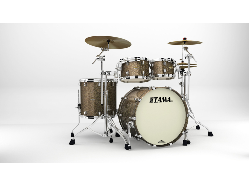 "Shell set Tama Starclassic Maple MA42TZS-GCS Galaxy Chameleon Sparkle, 22"", 10"", 12"", 16"", Chrome Hardware"