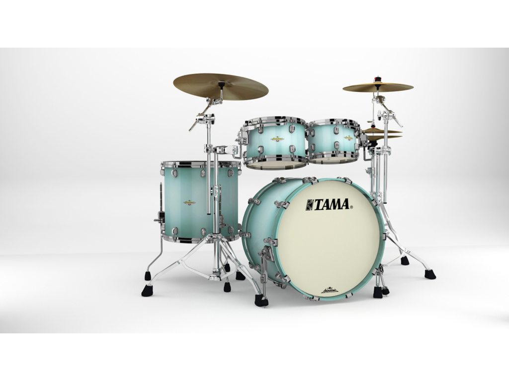 "Shell Set Tama Starclassic Maple MA42TZBNS-LJB Light Jade Burst, 22"", 10"", 12"", 16"", Zwart Nikkel Hardware"