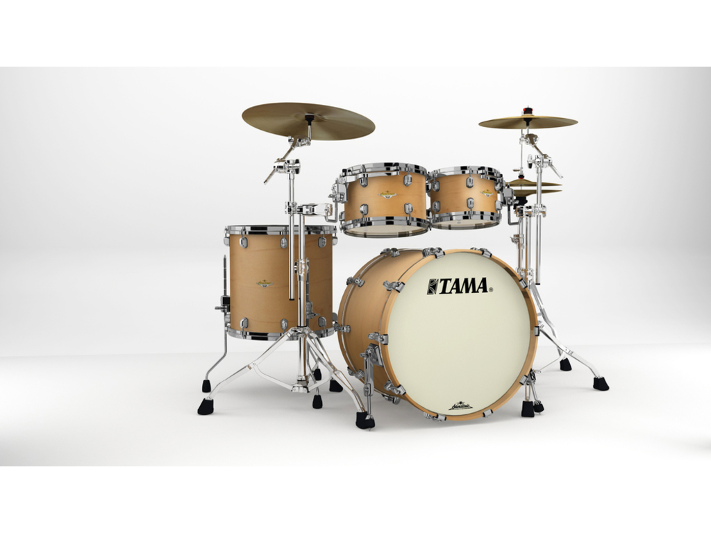 "Shell Set Tama Starclassic Maple MA42TZBNS-VAM Vintage Antique Maple, 22"", 10"", 12"", 16"", Zwart Nikkel Hardware"
