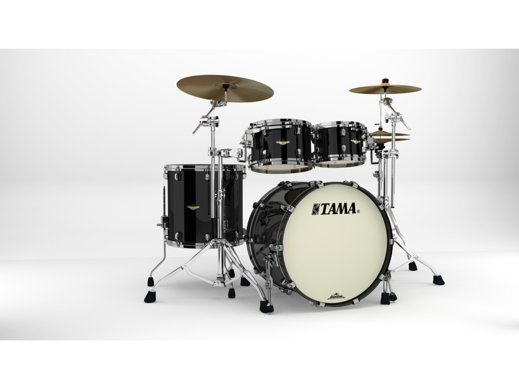"Shell Set Tama Starclassic Maple MA42TZBNS-PBK Piano Black, 22"", 10"", 12"", 16"", Zwart Nikkel Hardware"
