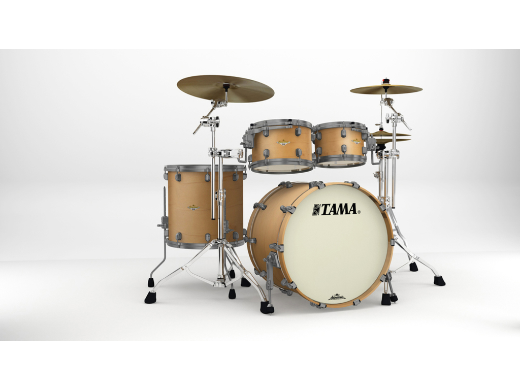 "Shell Set Tama Starclassic Maple MA42TZUS-VAM Vintage Antique Maple, 22"", 10"", 12"", 16"", Smoked Zwart Nikkel Hardware"