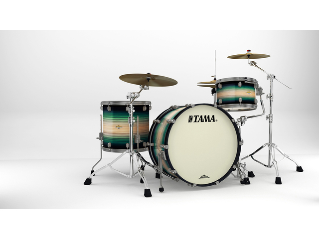 "Shell Set Tama Starclassic Maple ME34CZUS-LEWB Emerald Pacific Walnut Burst, 24"", 13"", 16"", Smoked Zwart Nikkel Hardware"