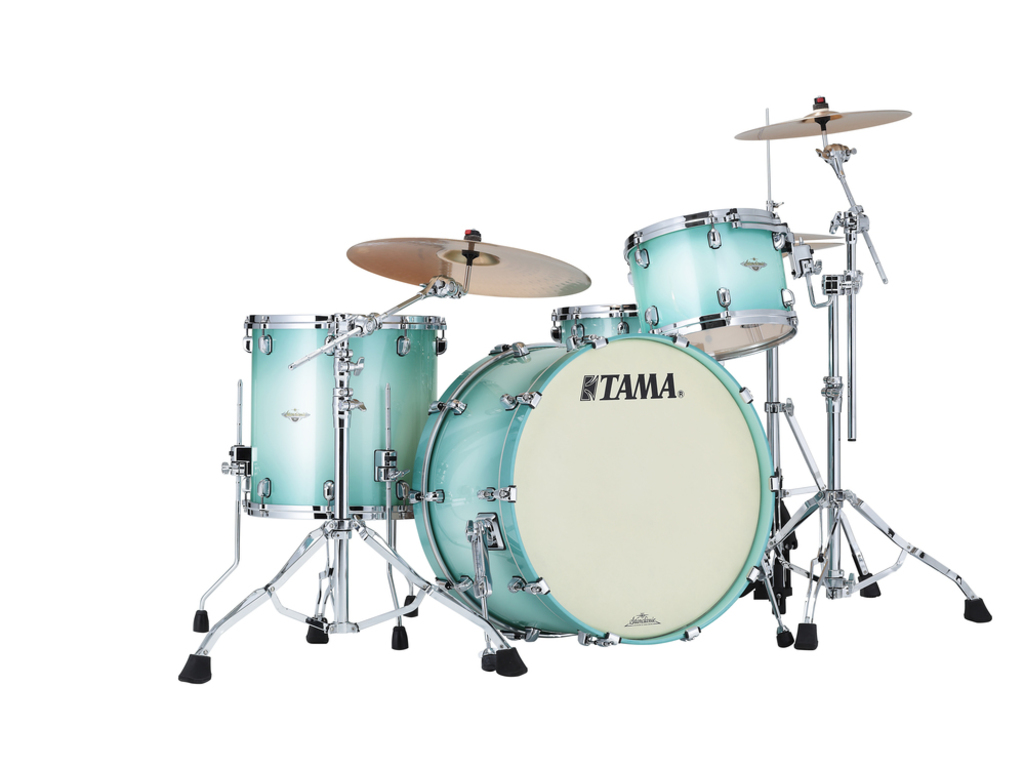"Shell Set Tama Starclassic Maple MA34CZS-LJB Light Jade Burst, 24"", 13"", 16"", Chrome Hardware"